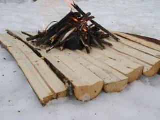 Campfire on Snow