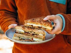 Apple, Bacon Grilled Cheese Sandwich