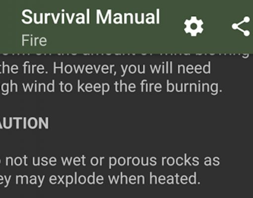 Survival Apps