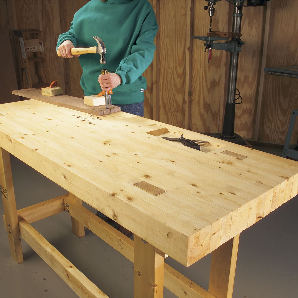 Garage Work Bench: 12 Super-Simple Workbenches You Can Build